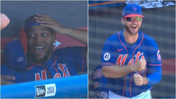Guillorme's epic 22-pitch AB has Mets bench going wild