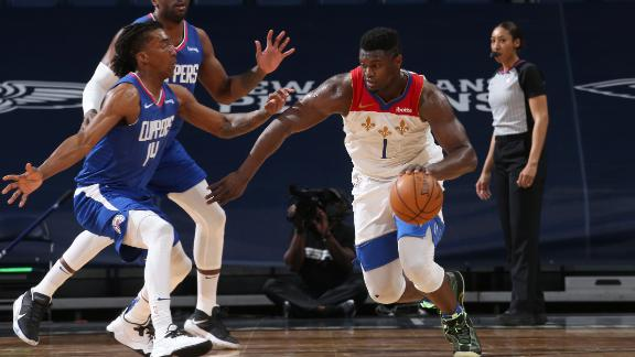 Zion leads Pelicans to big win over Clippers