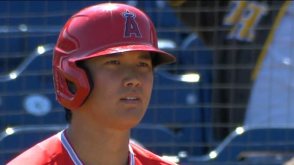 Ohtani has a nice day at the plate, on the mound
