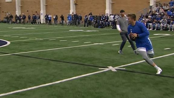 This Zach Wilson throw was so nice it got rousing applause at BYU's pro day