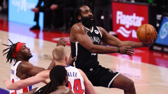 Harden sets his Nets' high with 44 points