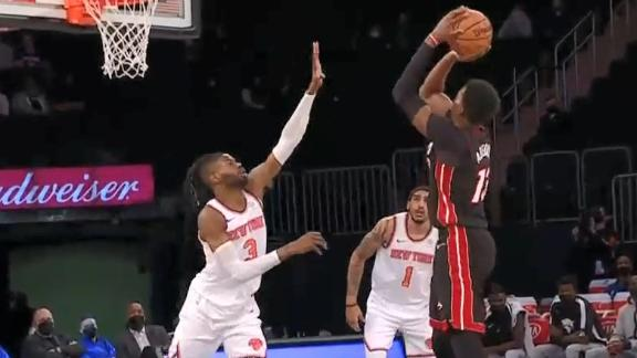 Bam a force in the paint on back-to-back possessions