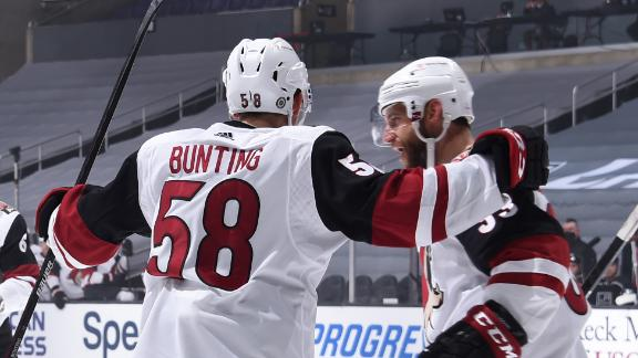 Bunting notches hat trick as Coyotes top Kings