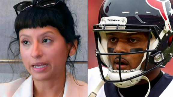 First woman to file civil lawsuit against Deshaun Watson speaks publicly