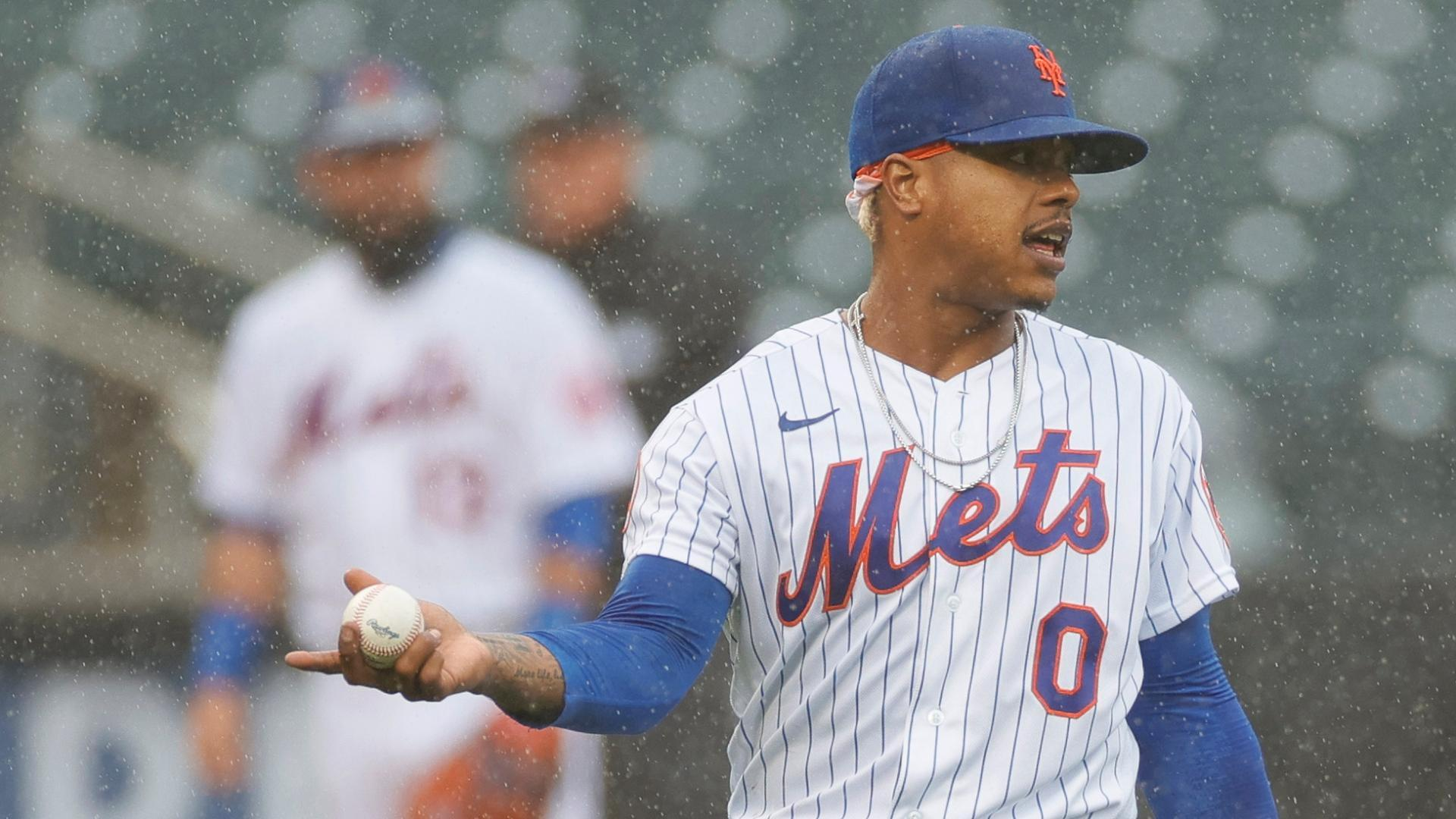 Stroman unhappy after early rain delay derails outing
