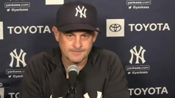 Boone explains why Hicks is out of lineup vs. Blue Jays