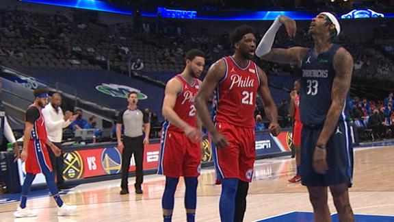 Embiid lets Cauley-Stein hear it after and-1