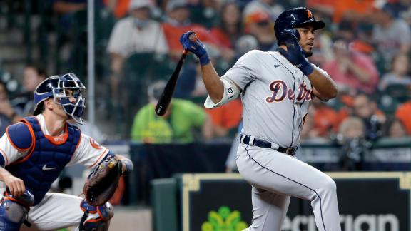 Tigers play small ball on way to win vs. Astros