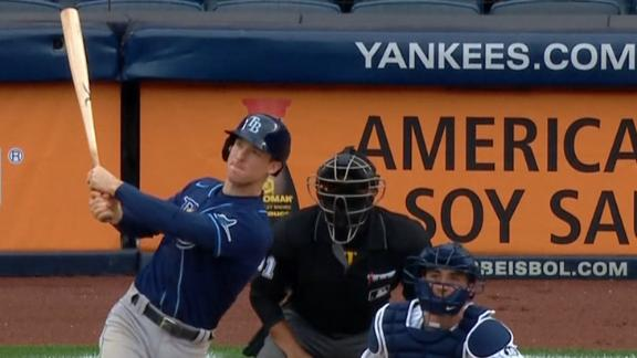 Wendle homers late as Rays send Yankees to 5th straight loss
