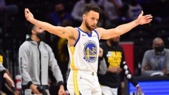 Curry magic strikes again with two incredible 3s in the final two minutes
