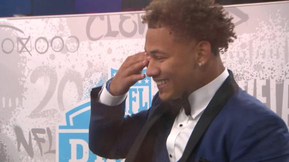 Trey Lance breaks into tears after being selected No. 3 in NFL draft