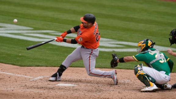 Stewart pads Orioles' lead with a two-run homer