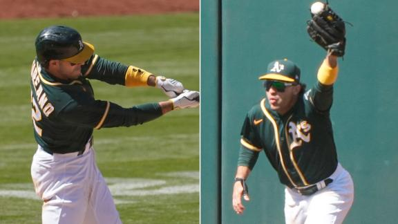 Laureano comes up huge with his glove and bat in the eighth
