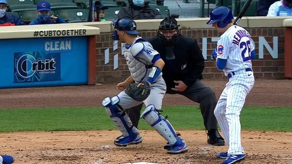 Cubs extend lead to 6-0 after Dodgers' wild pitch