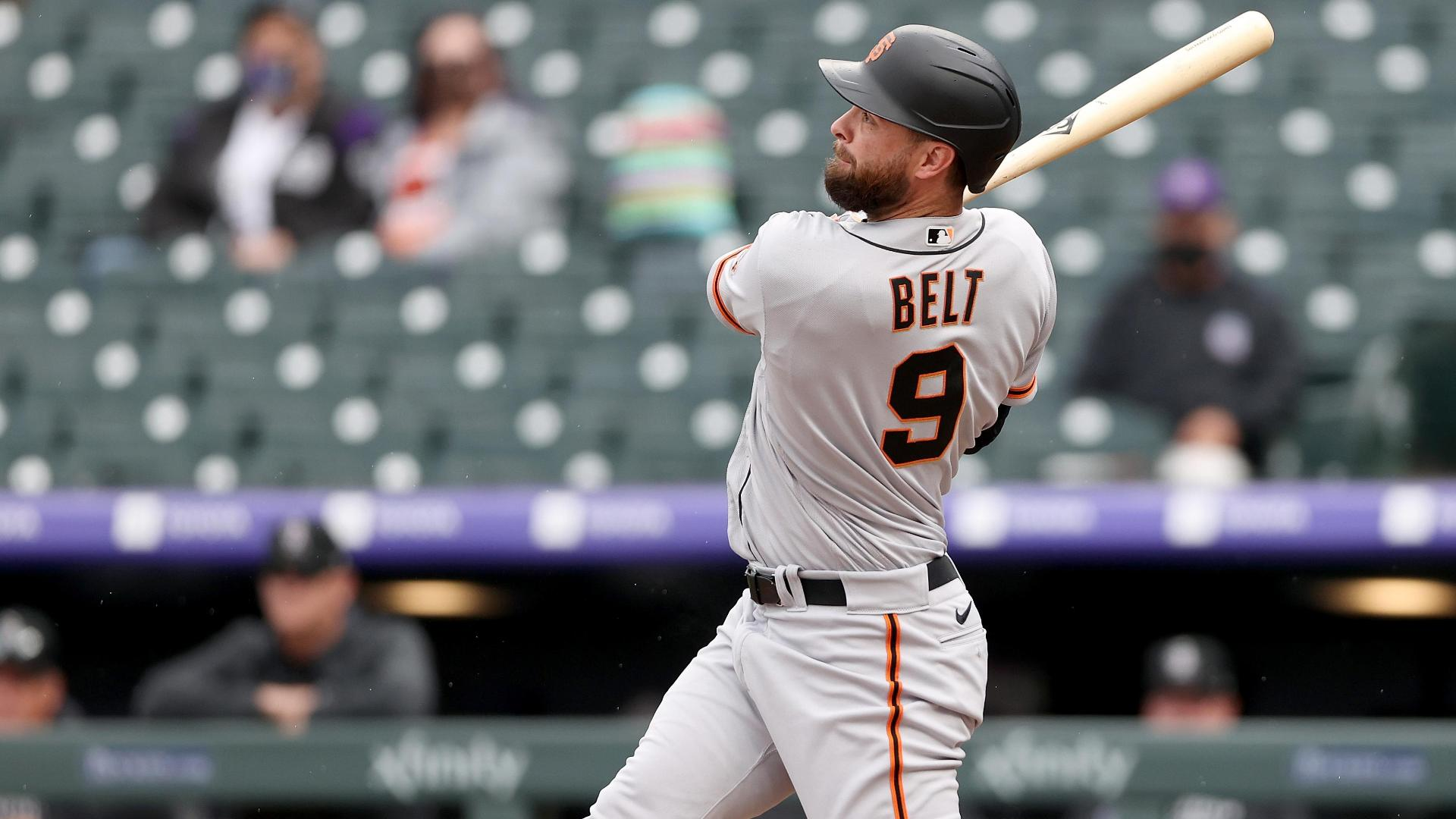 Belt busts game open with grand slam in 10-run first inning