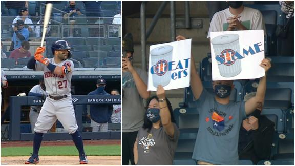 Altuve gets bombarded with boos from Yankees fans