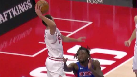 Stewart makes a business decision and doesn't challenge LaVine's big dunk