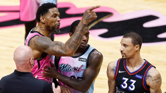 Haslem ejected after rousing ovation in brief season debut