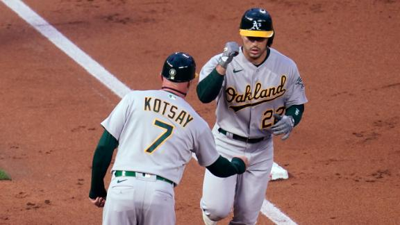 A's hit four home runs in thrashing of Twins
