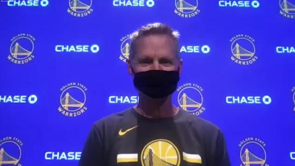 Kerr: Steph, Draymond can't wait for play-in tournament