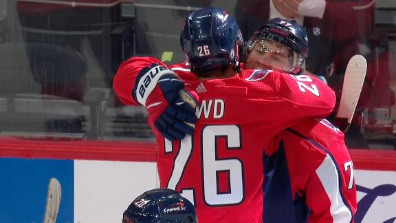Caps prevail in OT to take 1-0 series lead