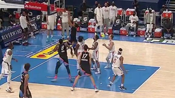 Moses Brown's putback jam seals win for Thunder