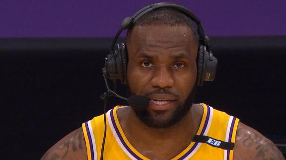 LeBron on final 3: Shot it at the middle rim after seeing three of them