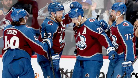 Avalanche crush Golden Knights 7-1 in Game 1