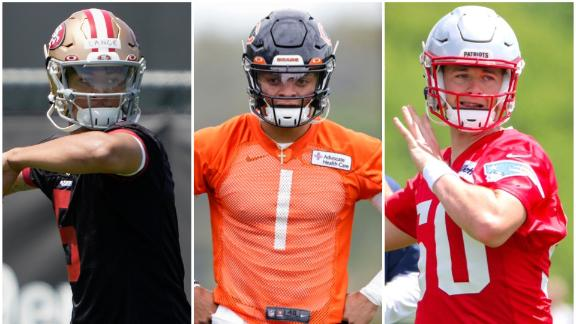 Which rookie QB starts more games this year: Lance, Fields or Jones?