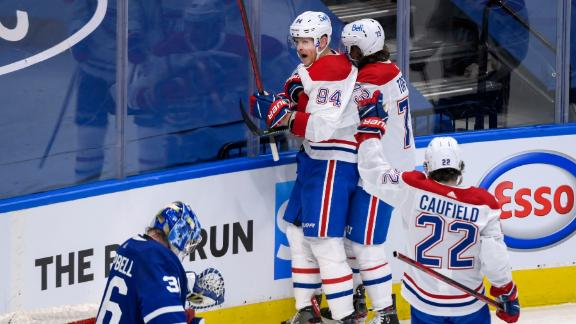 Corey Perry scores off his leg as Canadiens finish off series comeback vs. Leafs