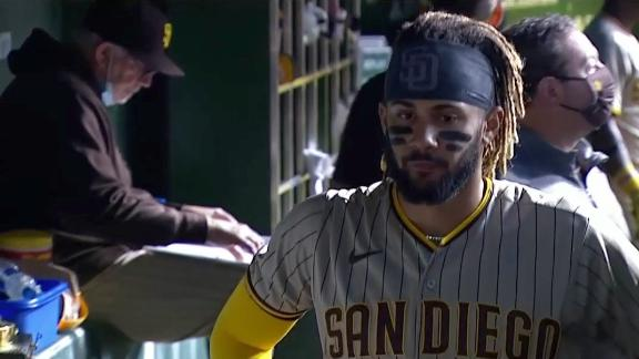 Tatis leaves game with right oblique tightness