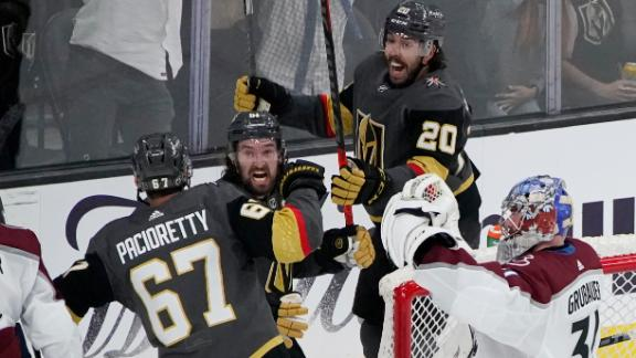 Golden Knights score two goals in 45 seconds in Game 3 win