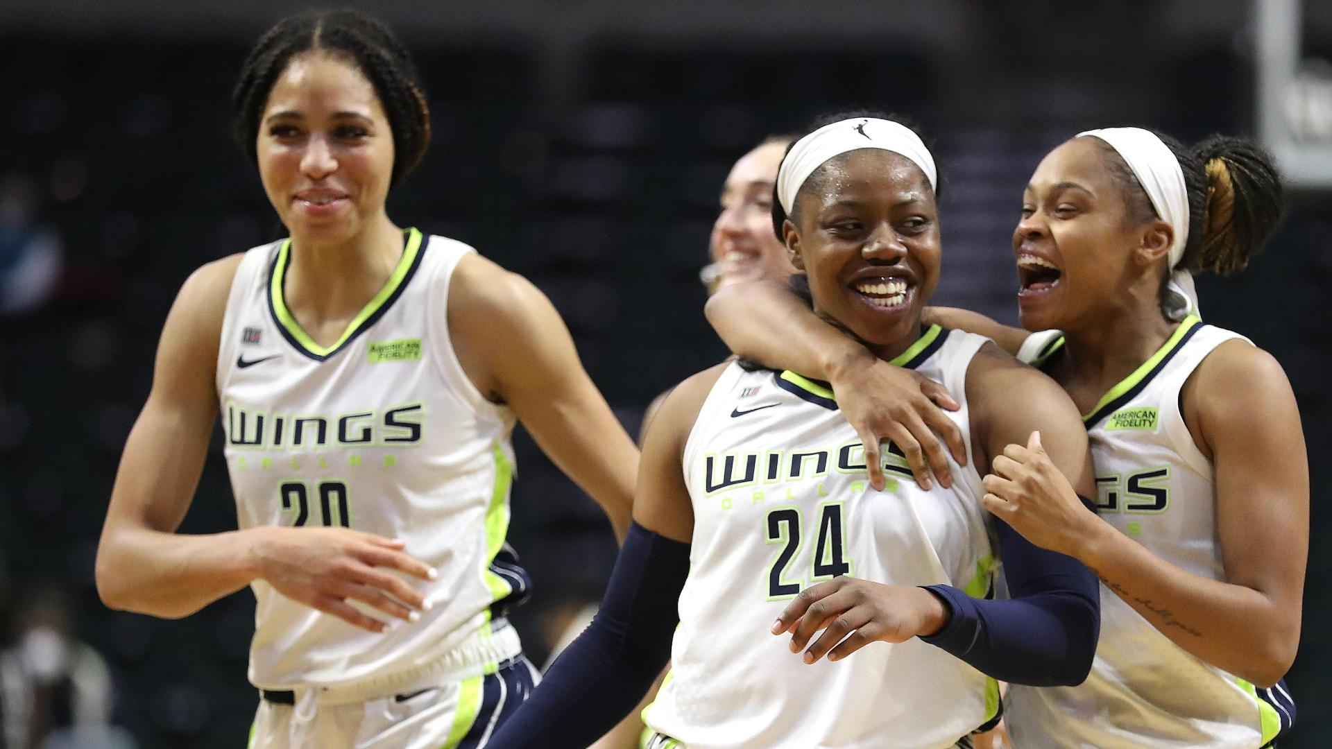 Arike Ogunbowale calls game for Wings with deep 3-pointer