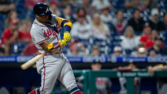 Acuna drives in 2 with broken-bat single