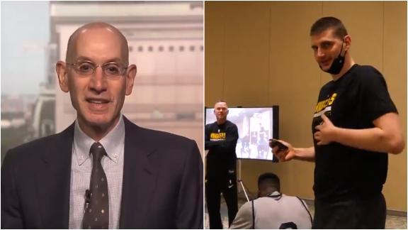 Adam Silver interrupts Nuggets' meeting to award Jokic MVP