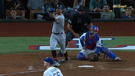 Mike Tauchman cranks first career grand slam to put Giants up for good