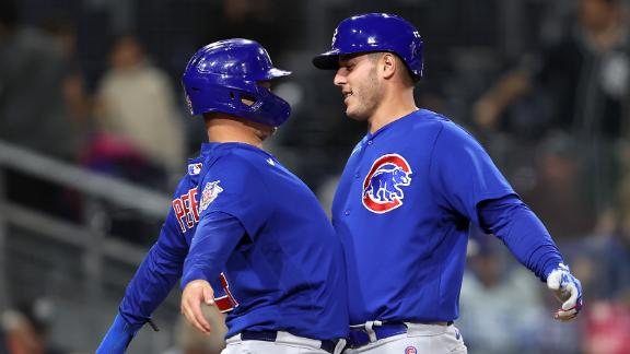 Cubs go deep 3 times in win over Padres