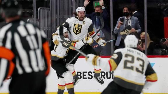 Golden Knights take 3-2 series lead behind Stone's OT goal