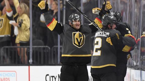 Alex Pietrangelo scores winning goal as Vegas eliminates Colorado
