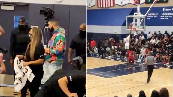 LeBron, Drake in attendance as Bronny turns defense into offense