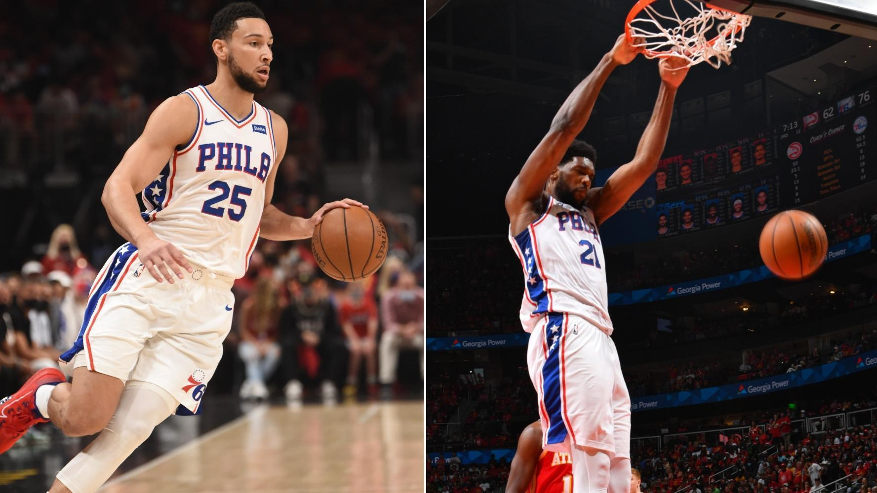 Simmons, Embiid put on dunk show in the third