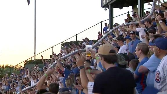 Cubs fans create insanely long beer snake