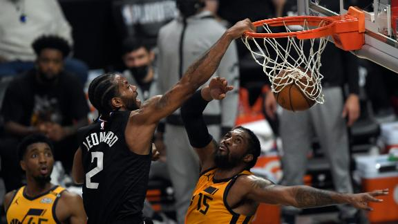 'A major Kawhi-light' Leonard dunks all over Derrick Favors
