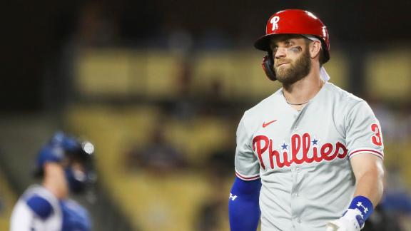 Harper exits with back tightness after striking out