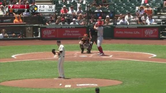Rhys Hoskins a home run, RBI machine for Phillies