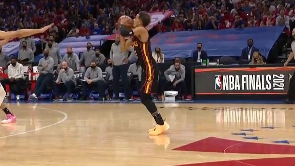Trae Young delivers massive 3-pointer