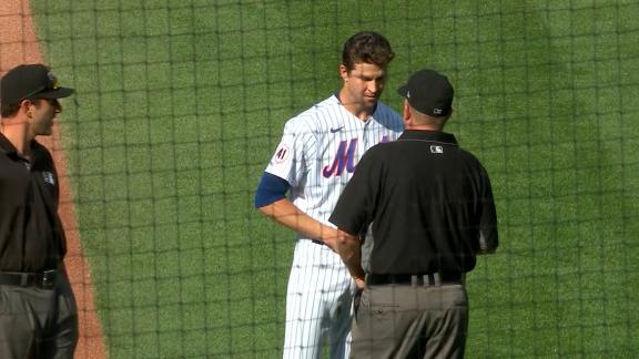 DeGrom checked for foreign substances in Braves-Mets game
