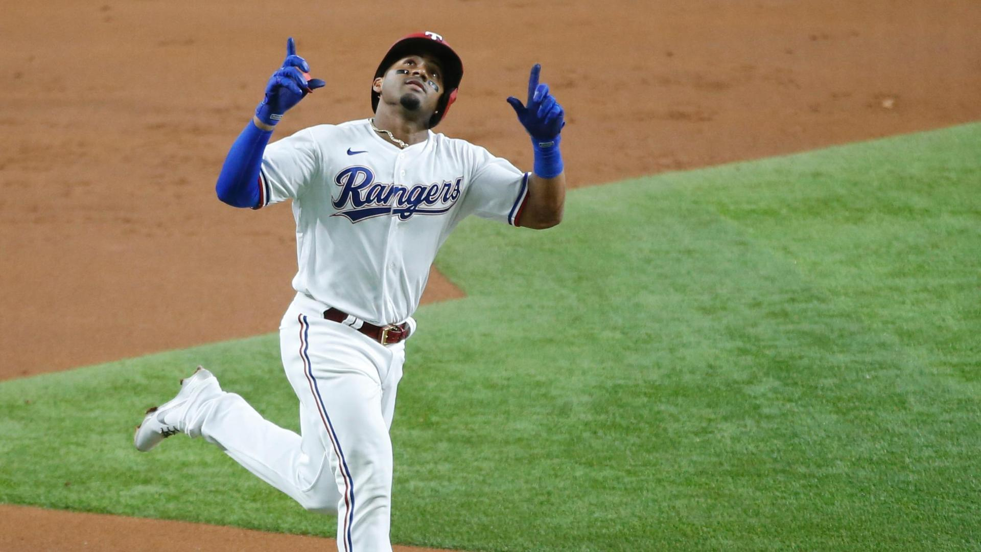 Andy Ibanez cranks first big league homer in Rangers' win
