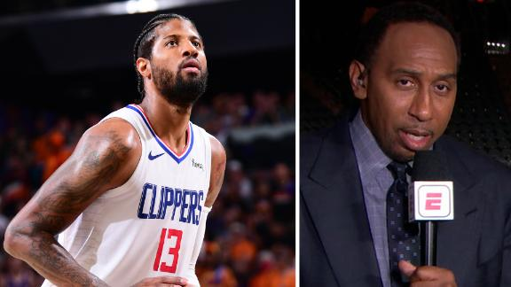Stephen A. on George's free throws: 'Must close when you are a star'