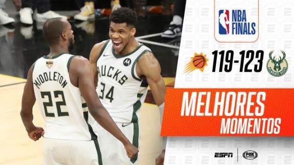 Finais da NBA: Bucks conseguem 3ª maior virada em Finais das últimas 25 temporadas e batem os Suns no Jogo 5